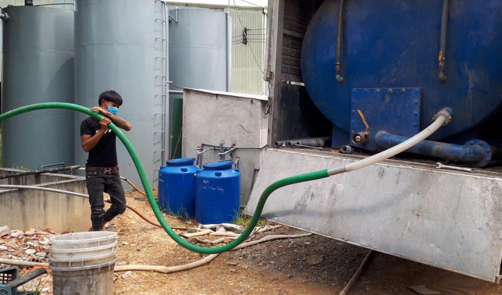 Hút hầm cầu tại kcn gò dầu